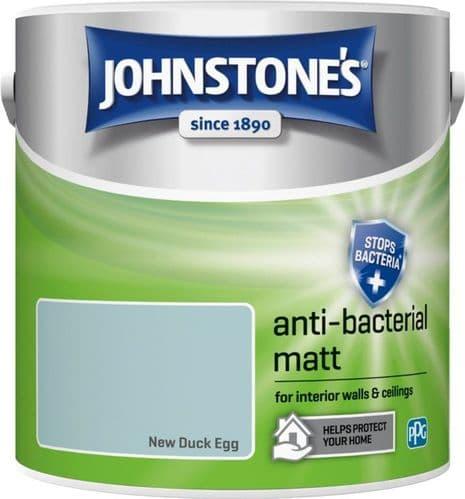 Johnstone's Anti Bacterial Matt 2.5L - New Duck Egg